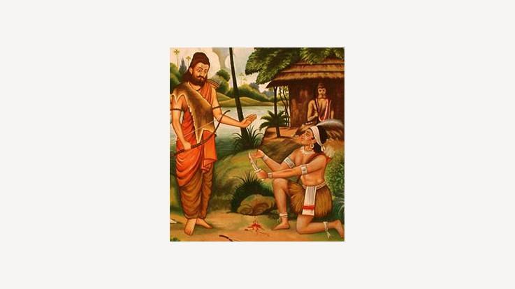 Right Hand Thumb as Guru Dakshina