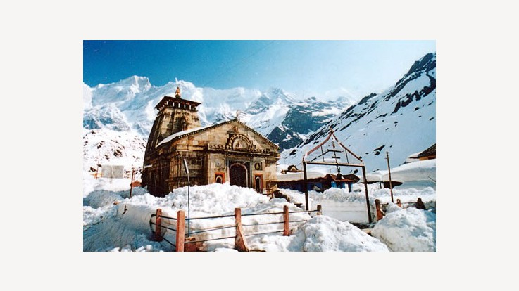 Kedarnath Temple in Winter