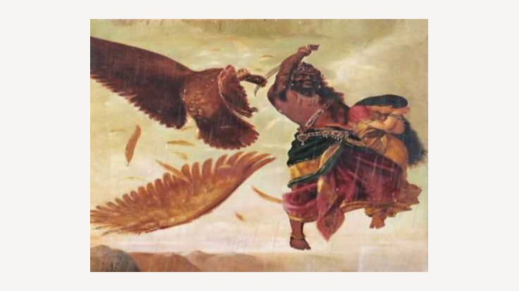 Ravan chopping Jatayu's wings