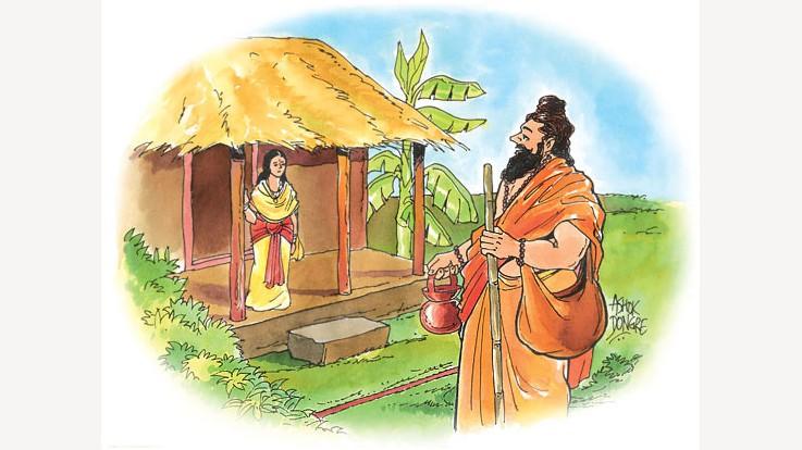 Ravan disguised as a sage