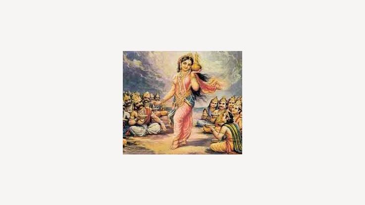 Lord Vishnu in the Apsara's Avatar