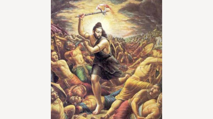 Parshuram destroying the kings