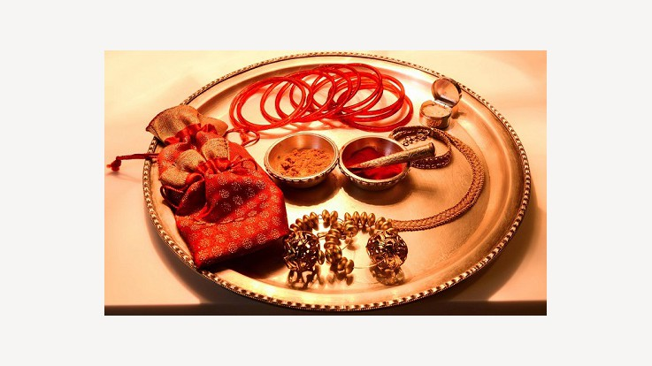 Karva Chauth Vrat is famous in Northern India where married women fast for the long and helathy life of their husbands.