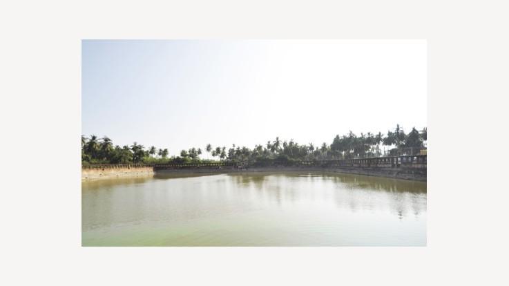 Banshankari Temple Pond View