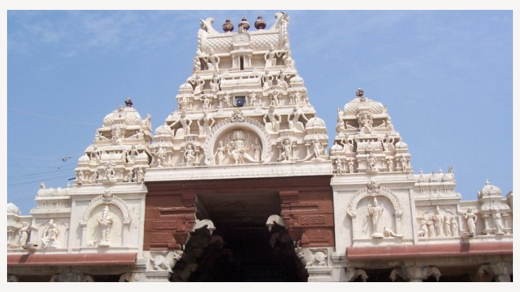 Murugan Temple at Thiruchendur frontview