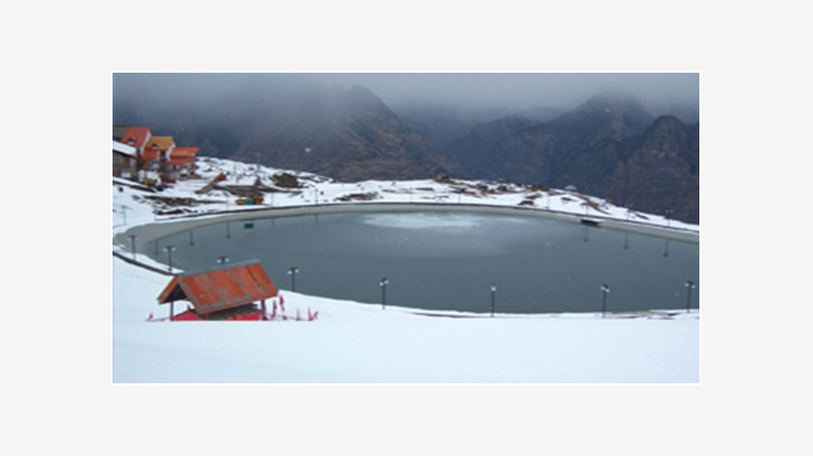 View of artificial lake