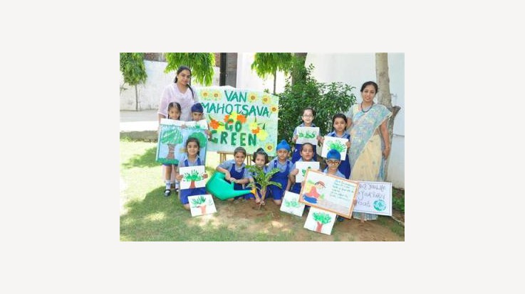 Children Celebrating Van Mahotsav