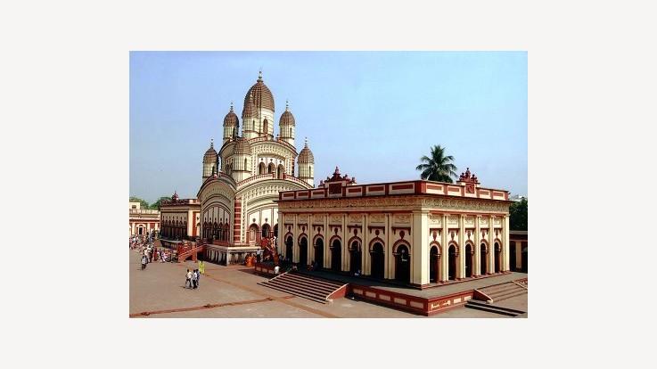dakshineswar kali temple kolkata west bengal temple view