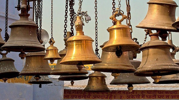 Why are there bells in temples?